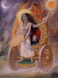 Why is Goddess Dhumvati depicted as the Goddess of misfortune, poverty, death, destruction, etc?