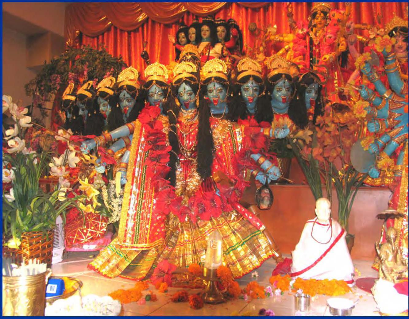 Maha Kali with ten faces